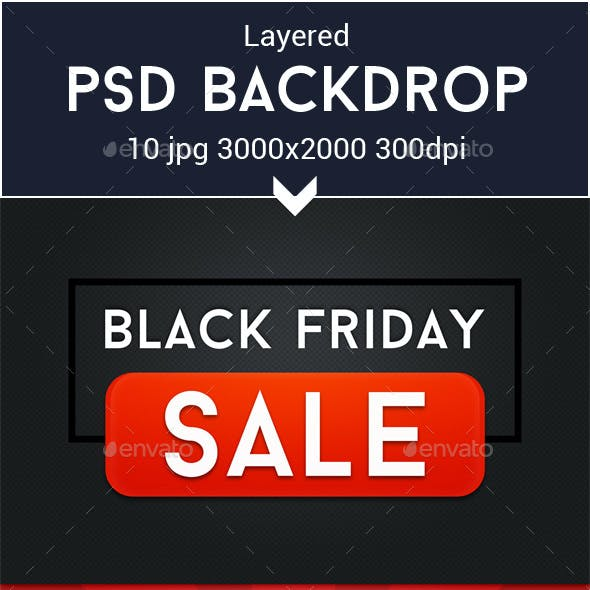 Black Friday PSD Graphics
