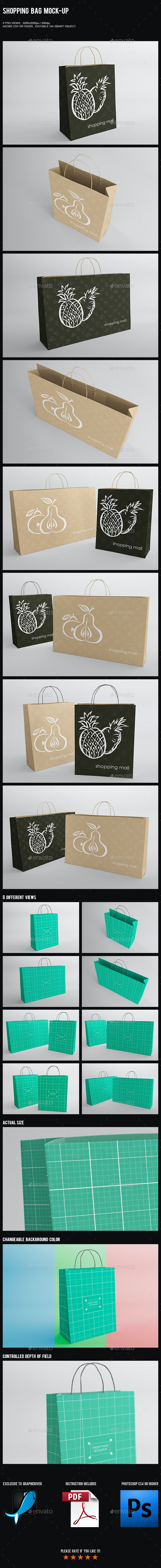 Shopping Bag Mock-Up - Miscellaneous Packaging
