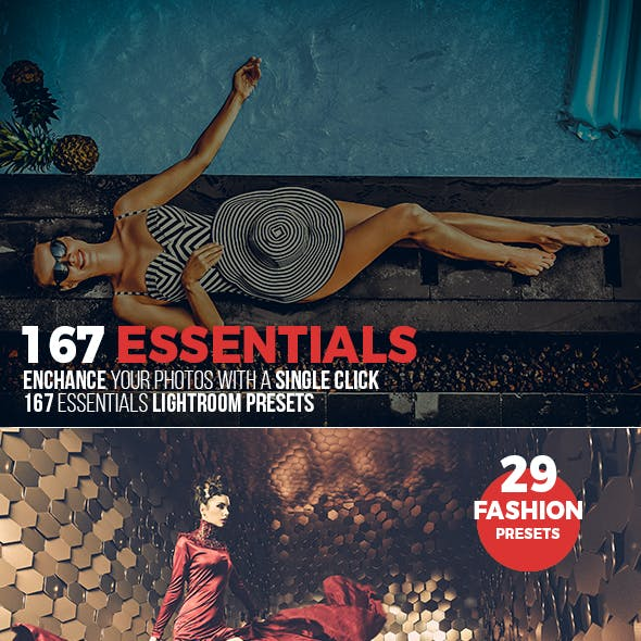 167 Essential Lightroom Presets