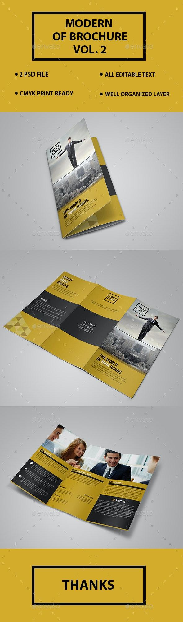 Creative Trifold Brochure Template - Brochures Print Templates