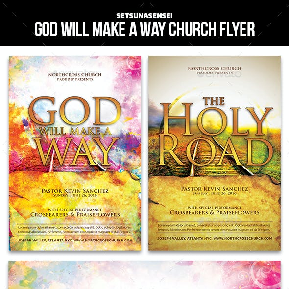 God Will Make a Way Church Flyer