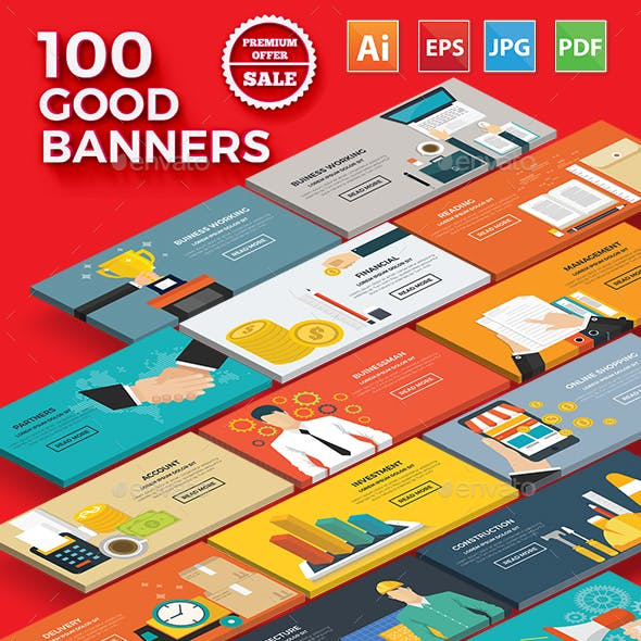 100 Bundle Banners Concept Design