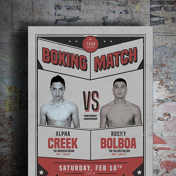 Old Boxing Match Flyer