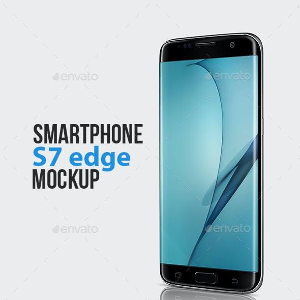 Smartphone S7 edge Mockup
