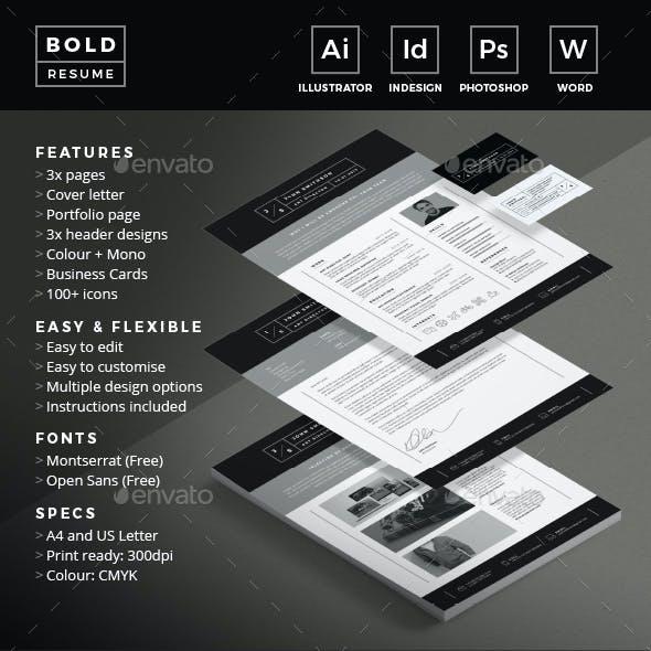 Bold Resume