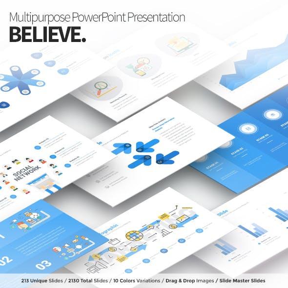 Believe - Multipurpose PowerPoint Presentation Template