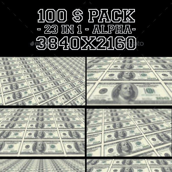 100 Dollars Pack V2 23 in 1