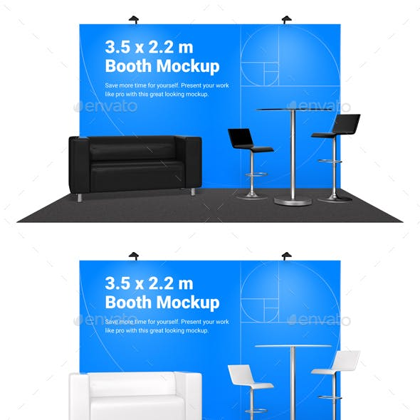 Booth Mockup with furniture
