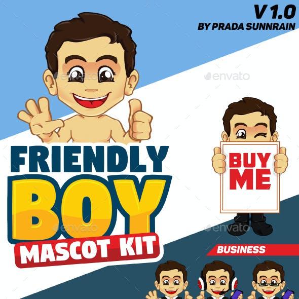 Friendly Boy Mascot / Character Kit