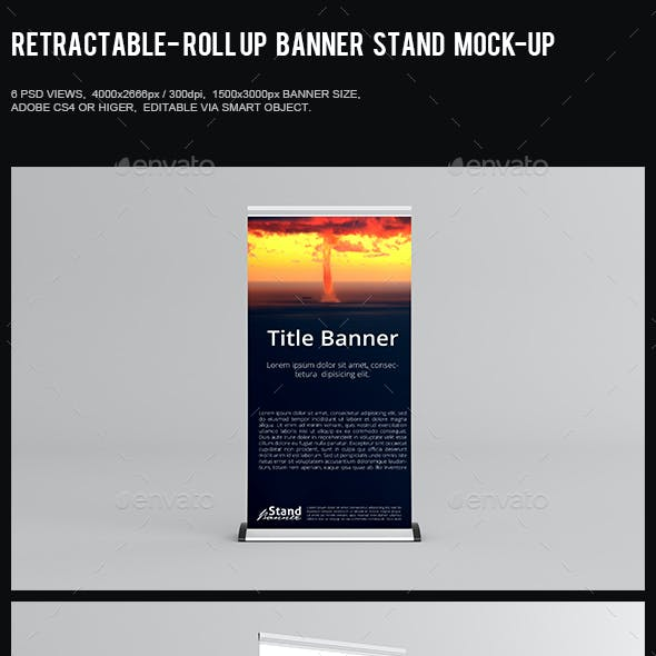 Retractable - Roll Up Banner Stand Mock-Up