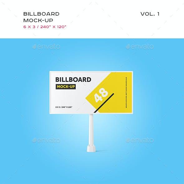 Studio Billboard Mock-up 6x3 vol.1