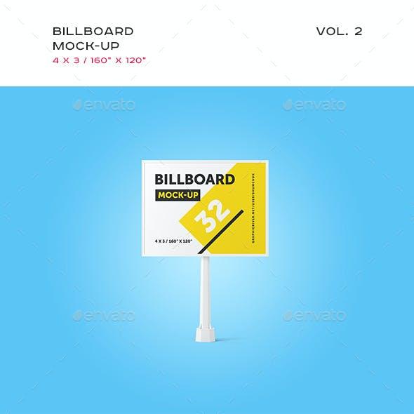 Studio Billboard Mock-up 4x3 vol.2