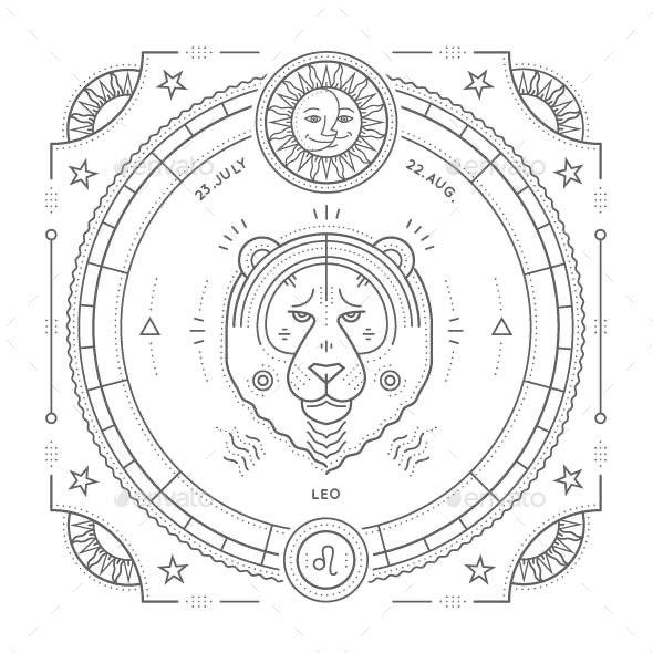 Leo Zodiac Symbol - Miscellaneous Vectors
