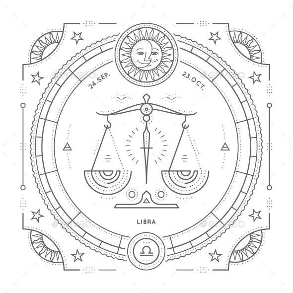 Libra Zodiac Symbol - Miscellaneous Vectors