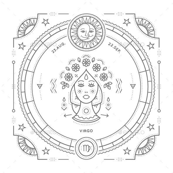 Virgo Zodiac Symbol - Miscellaneous Vectors
