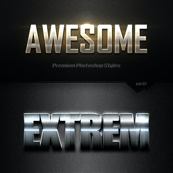 Photoshop Text Effects Vol.12