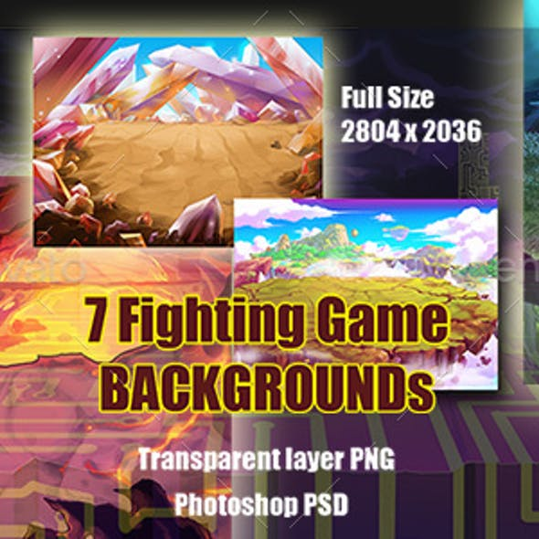 7 Fighting Game Backgrounds