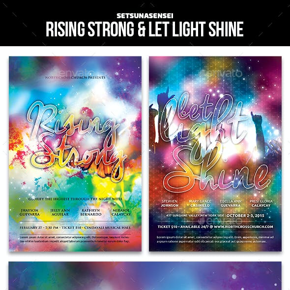Rising Strong and Let Light Shine Church Flyer
