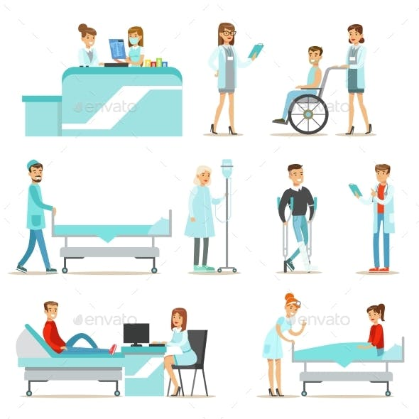 Injured and Sick Patients in The Hospital