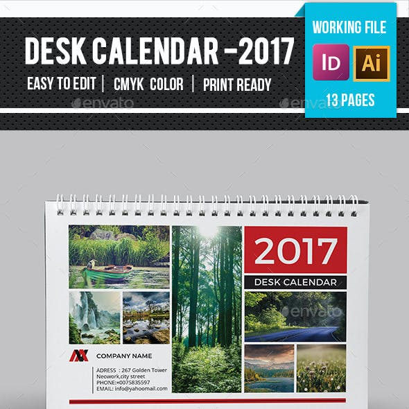 Desk Calendar 2017 -v13