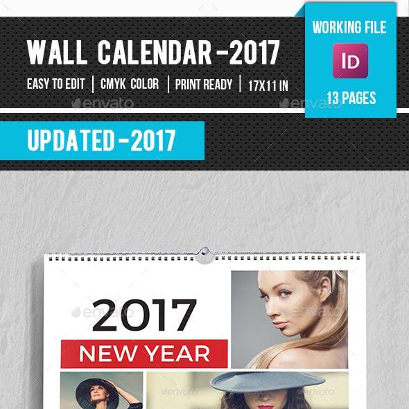 Wall Calendar Template 2017-V11