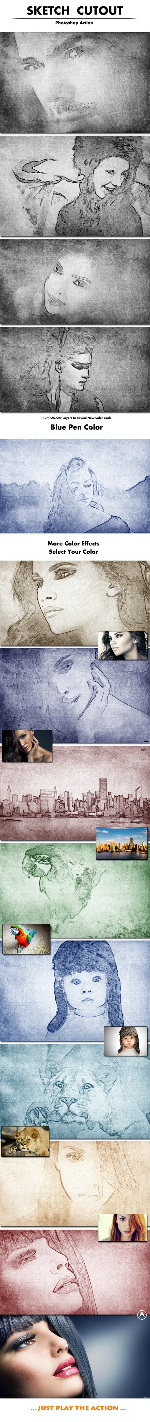 Sketch Cutout - Photoshop Add-ons