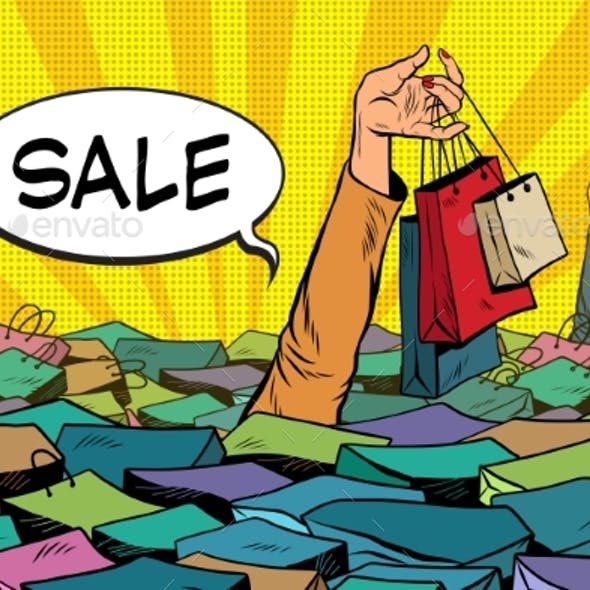 Sales, People Drowning in the Ocean of Shopping