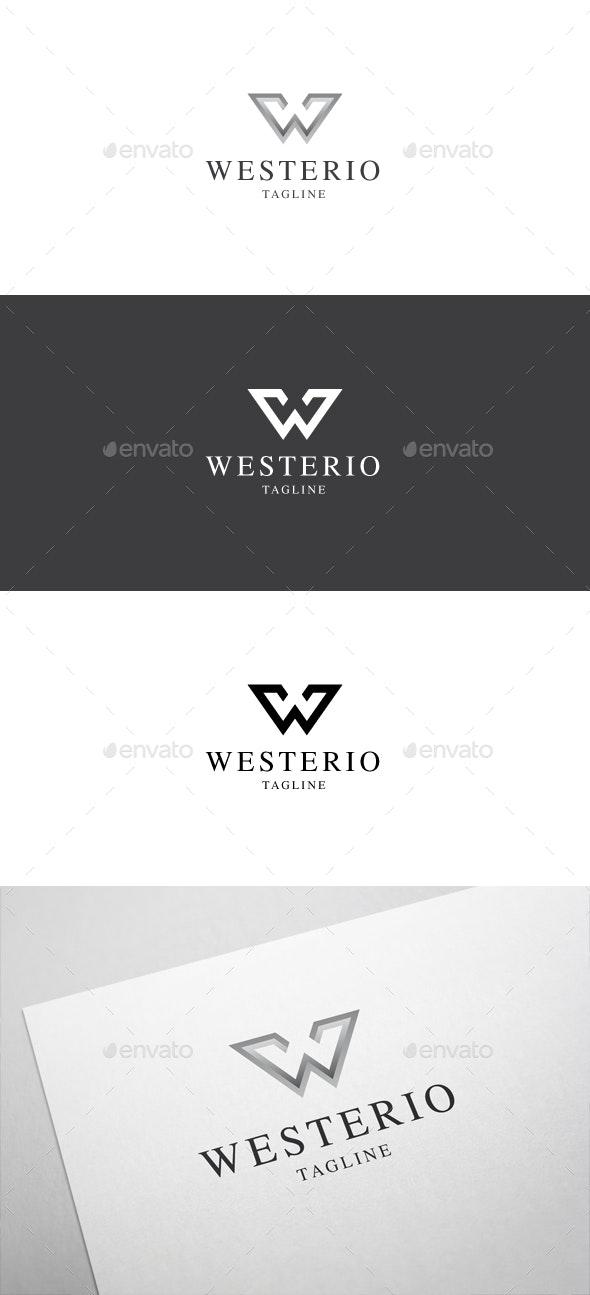Westerio W Letter Logo - Letters Logo Templates