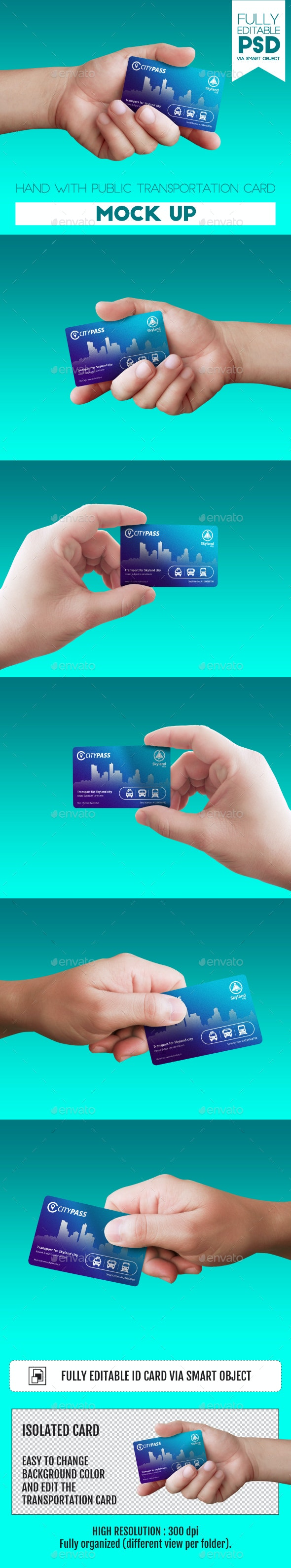 Hand with Public Transportation Card - Miscellaneous Print