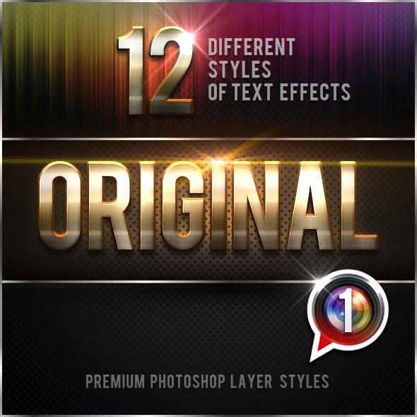 12 Original Photoshop Text Effects Vol.1