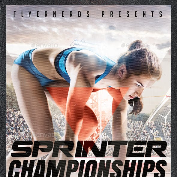 Sprinter Athletic Championships Sports Flyer