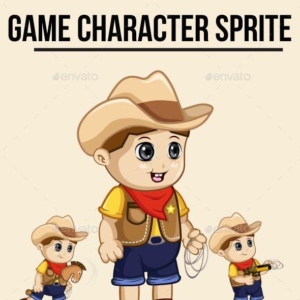 Cowboy Kid Sprite Character