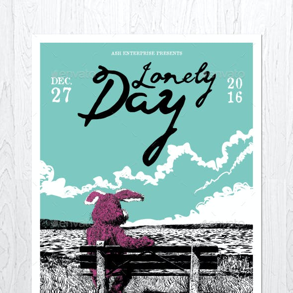 Lonely Day Flyer