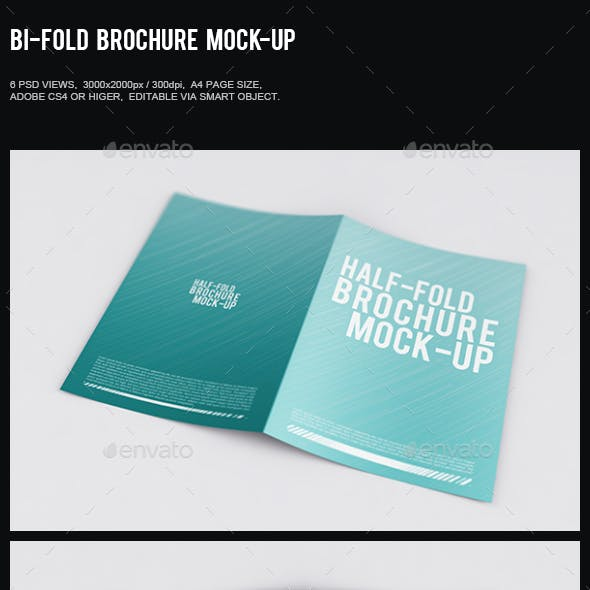 Bi-Fold Brochure Mock-Up