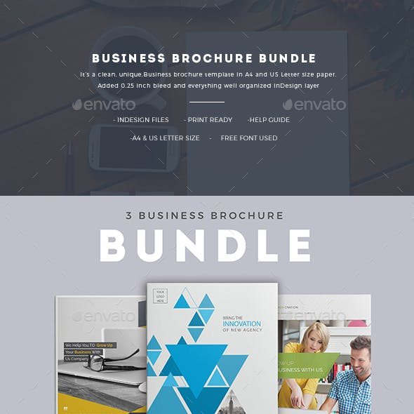 Business Brochure Bundle। InDesign Template