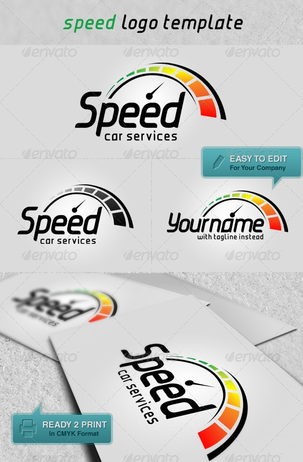 'Speed' Logo Template - Symbols Logo Templates