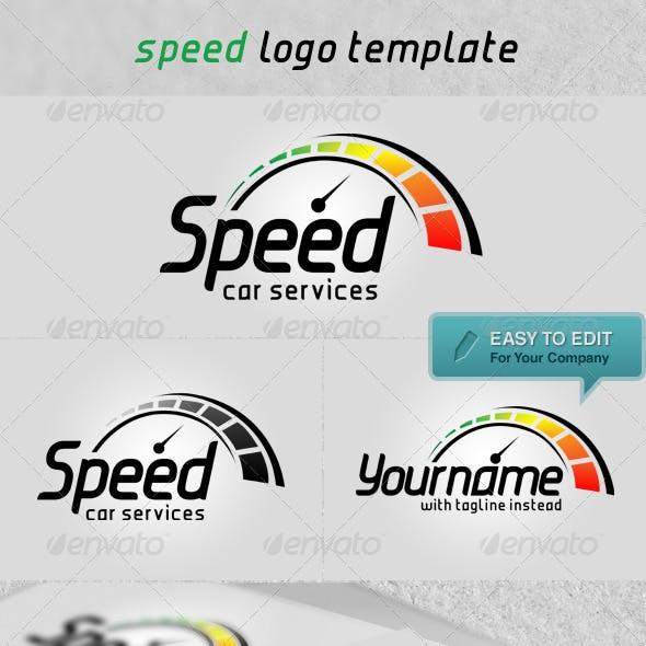 'Speed' Logo Template