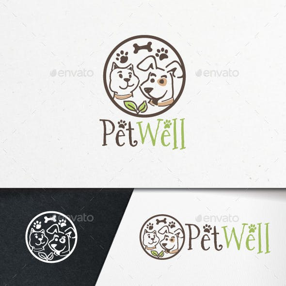 Pet Well Logo Template