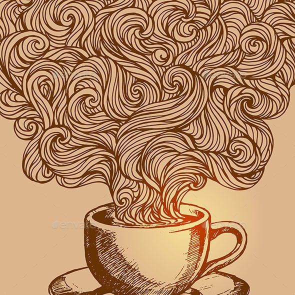 Hand-Drawn Cup of Coffee Doodle