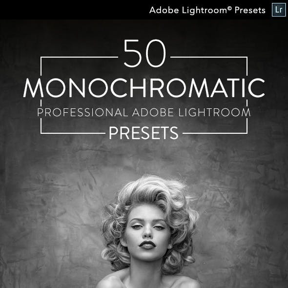 50 Monochromatic - Professional Adobe Lightroom Presets