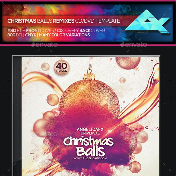 Christmas Balls CD/DVD Photoshop Template