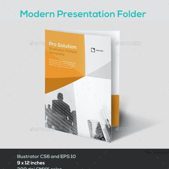 Modern Illustrator Folder template