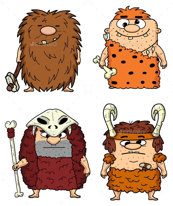 Cavemans - People Characters