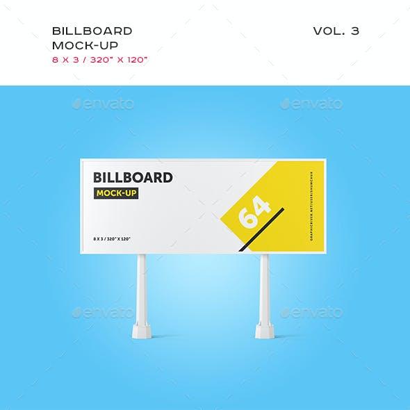 Studio Billboard Mock-up 8x3 vol.3