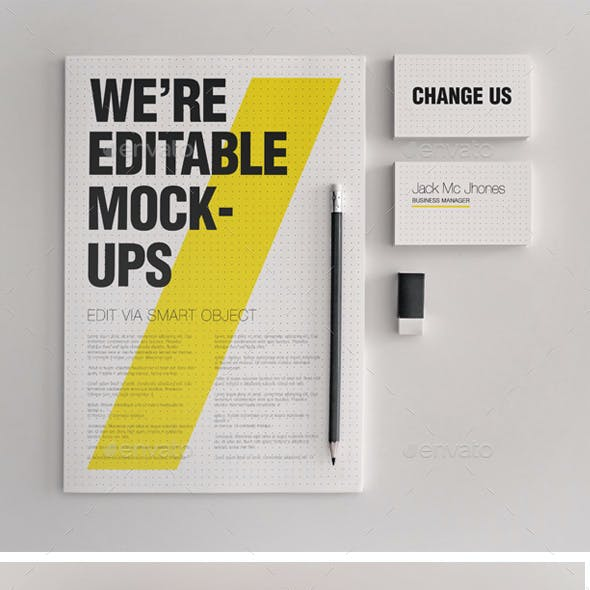 15 Elegant Mock-ups Bundle - Business Corporate ID