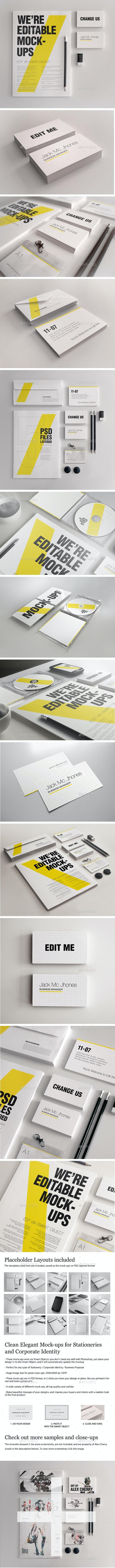 15 Elegant Mock-ups Bundle - Business Corporate ID - Stationery Print