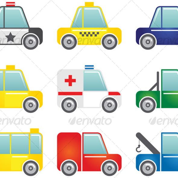 Transportation icons set