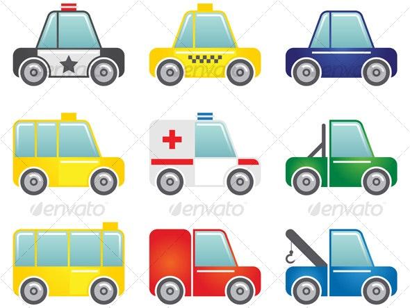 Transportation icons set - Objects Icons