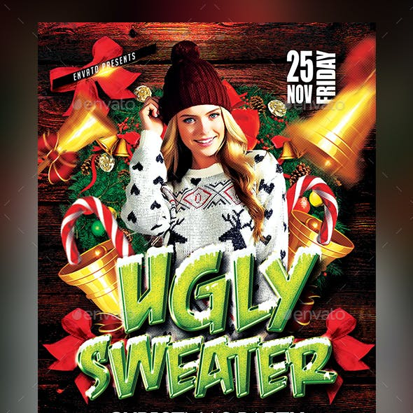 Ugly Sweater Party Flyer - Template