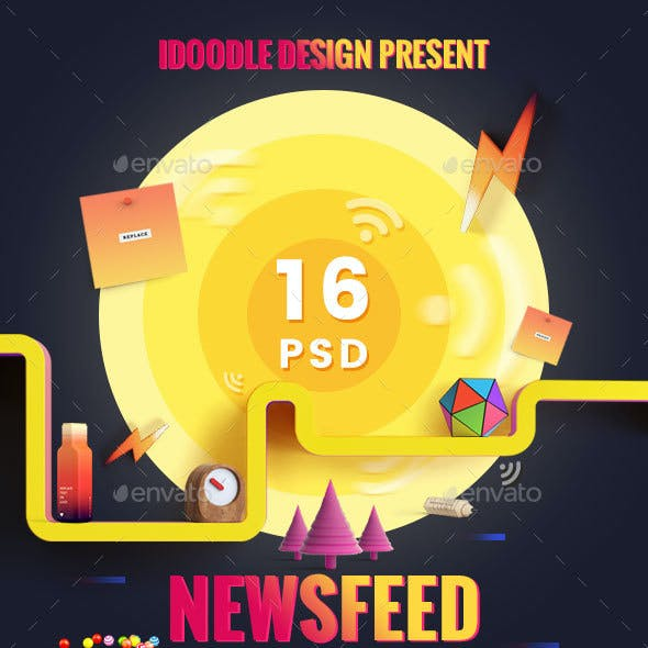 BlackFriday NewsFeed Banners Ads - 16 PSD [02 Size Each]